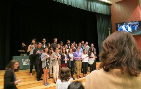 Students enjoy Senior Awards Night and the cookies