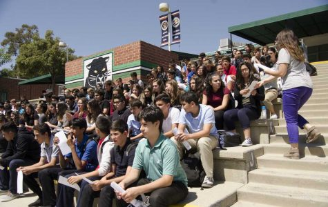 Freshmen take over the amphitheatre for elections