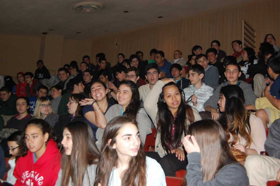 Students from Clark joined hundreds of other high schoolers at the Alex Theatre for Shakesperience.
