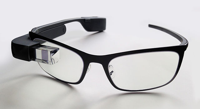 Google Glass with frame for prescription lens.