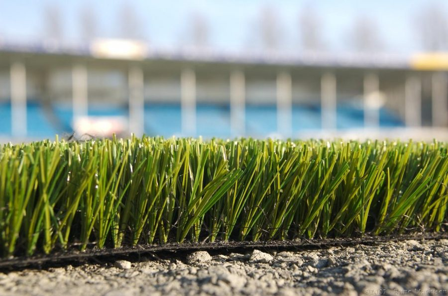 Artificial turf is most commonly made from car and truck tire pellets.