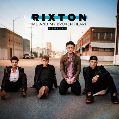Rixton pose for the cover of their album Me and My Broken Heart