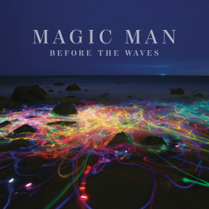 A gorgeous sea of neon on the cover of Magic Man's Before the Waves.