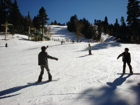 Snow play on a clear, cold day at Big Bear Lake is a super fun way to spend your winter break!
