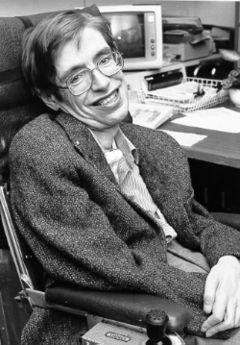Stephen Hawkings at NASA during the 1980s