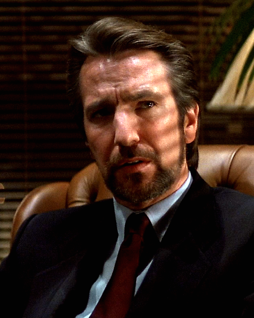Alan Rickman plays the ever-so-sinister Hans Gruber. This didn't only started his career, it also gave life to one of the greatest cinema villains ever.