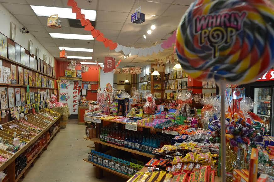Rocket Fizz offers a large selection of candies including PEZ candies and Whirly lollipops.