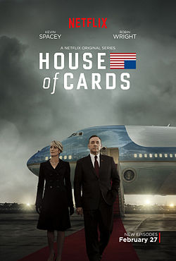 Promotional art for season 3 of House of Cards, which was released on Feb. 27.