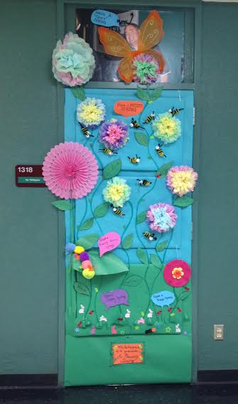 Mrs. Pettegrews winning door for this years spring door decorating contest