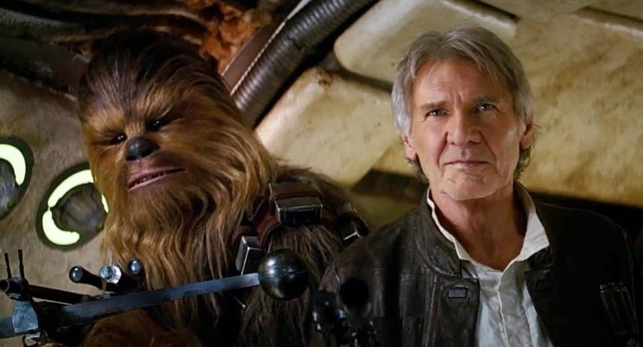 Original+cast+members+Harrison+Ford+and+Peter+Mayhew+return+as+Han+Solo+and+Chewbacca+%28Yes%2C+that+suit%27s+not+CG%2C+thankfully%29.