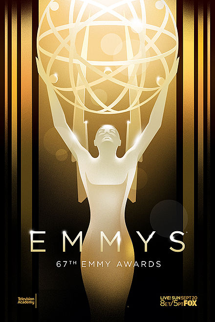 The promotional poster for the 67th Primetime Emmy Awards 2015.