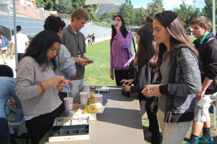 For this year's Clarktoberfest, students had to buy tickets to purchase what other classes were selling.