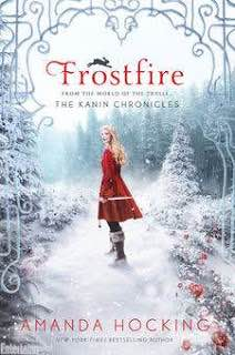 'Frostfire' by Amanda Hocking book cover.