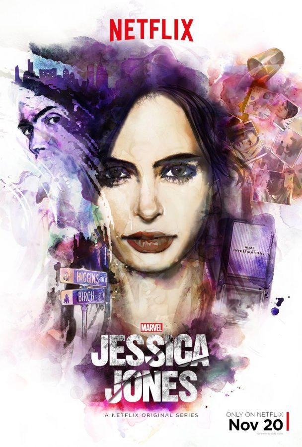 The cover photo for Marvel's Jessica Jones.