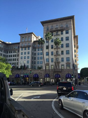 The Regent Beverly Wilshire in Beverly Hills where Richard Gere's character Edward takes Julia Robert's character Vivien to give her a taste of a high class lifestyle.