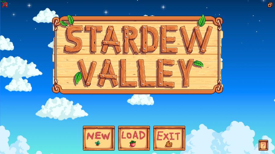 Stardew Valley's Main Menu