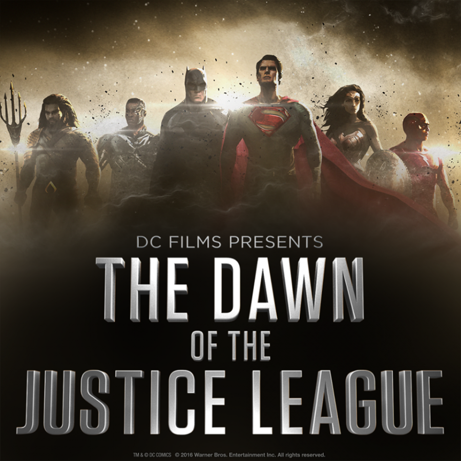 A promo showing concept art for the upcoming Justice League film.