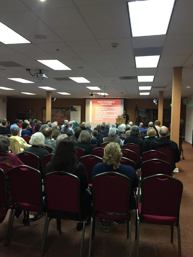 People of all religions came to watch Turk's presentation