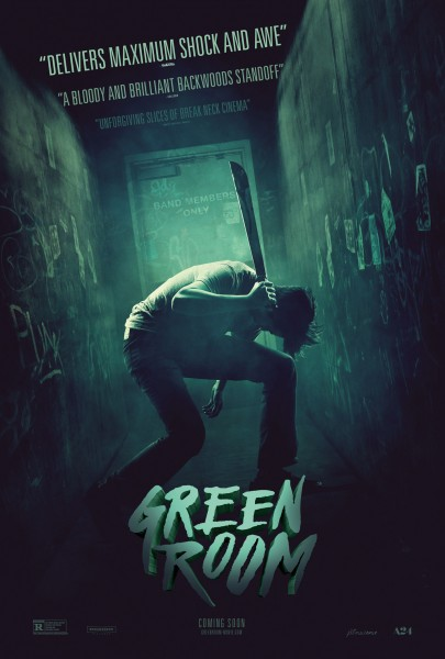 The simple yet disturbingly brilliant Green Room distributed by A24 is out on nationwide release April 29.