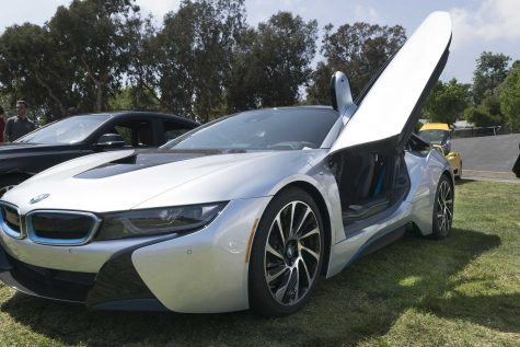 The butterfly doors on the BMW i8 flattered many students and staff.
