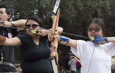 Shooting arrows in Pasadena