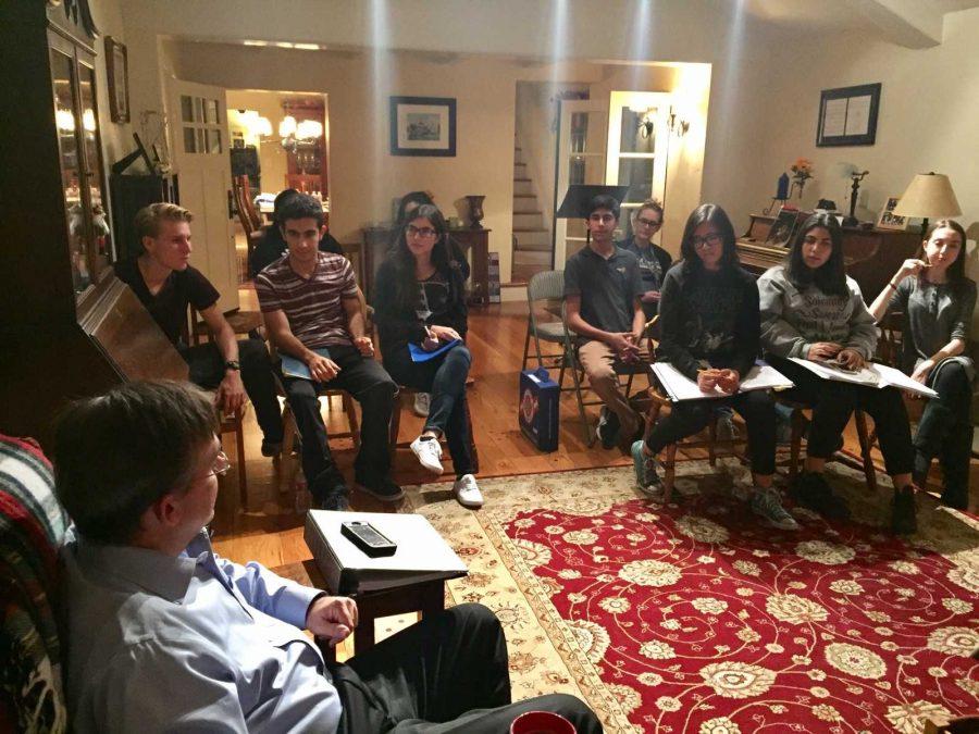 Judge Michael O'Gara trains Green team at his home.