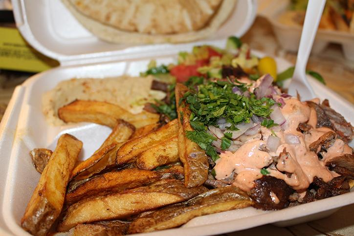 Beef Shawarma plate with french fries