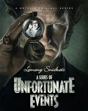 Neil Patrick Harris as Count Olaf on the promotional poster for the show.