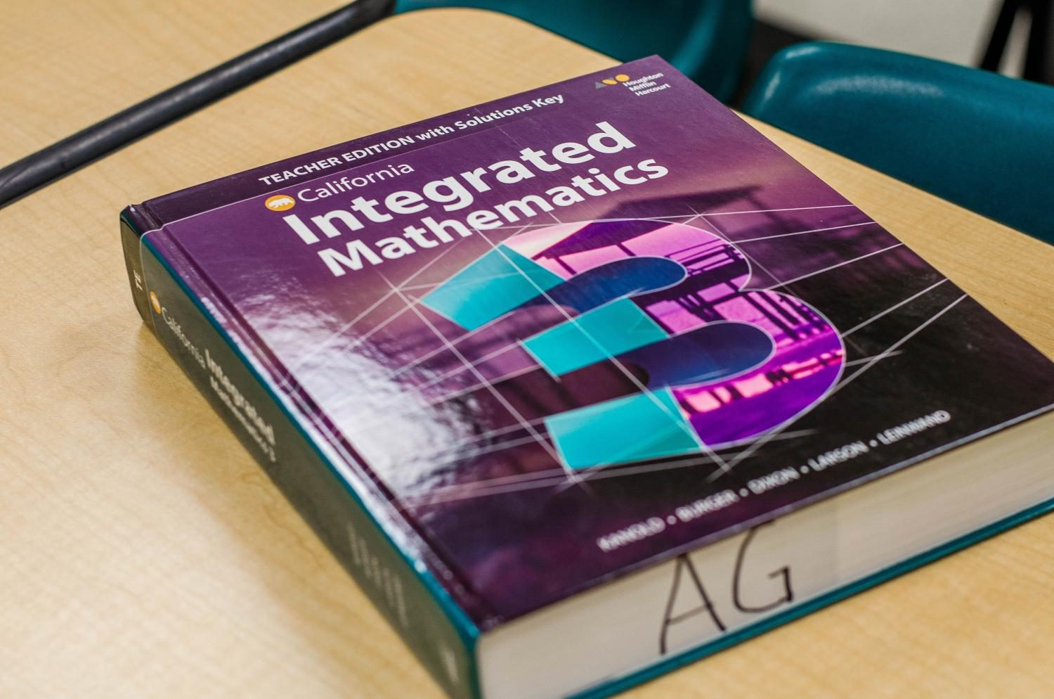 Math+textbook+that+teachers+are+planning+to+use+for+the+new+course%2C+Integrated+Math+3.