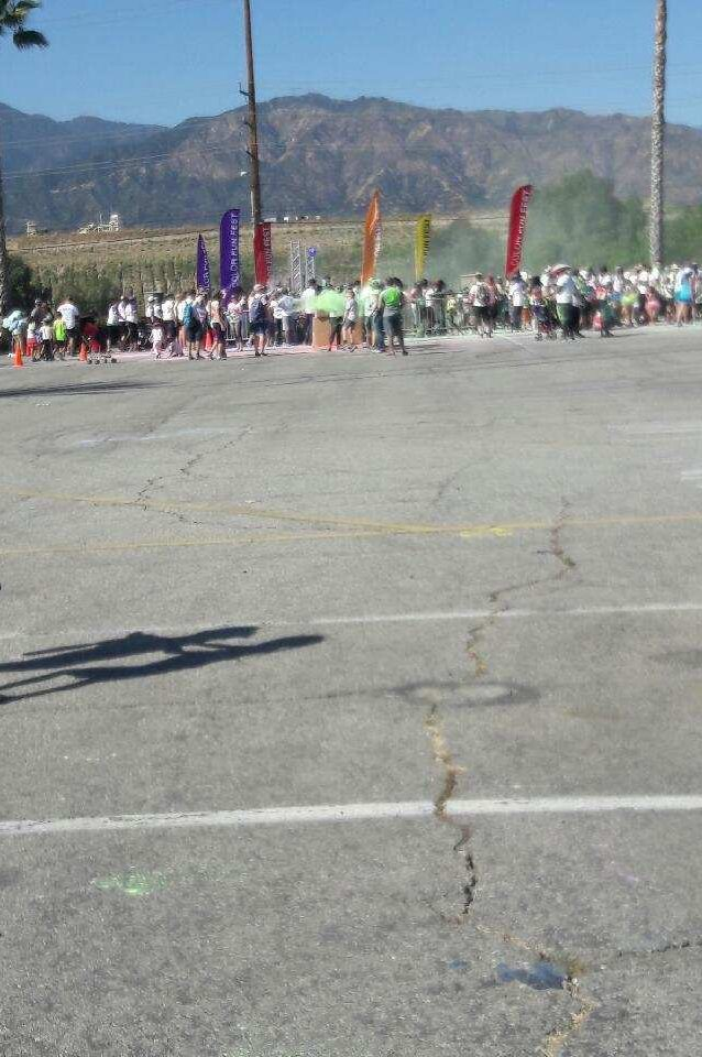 The section where runners get painted