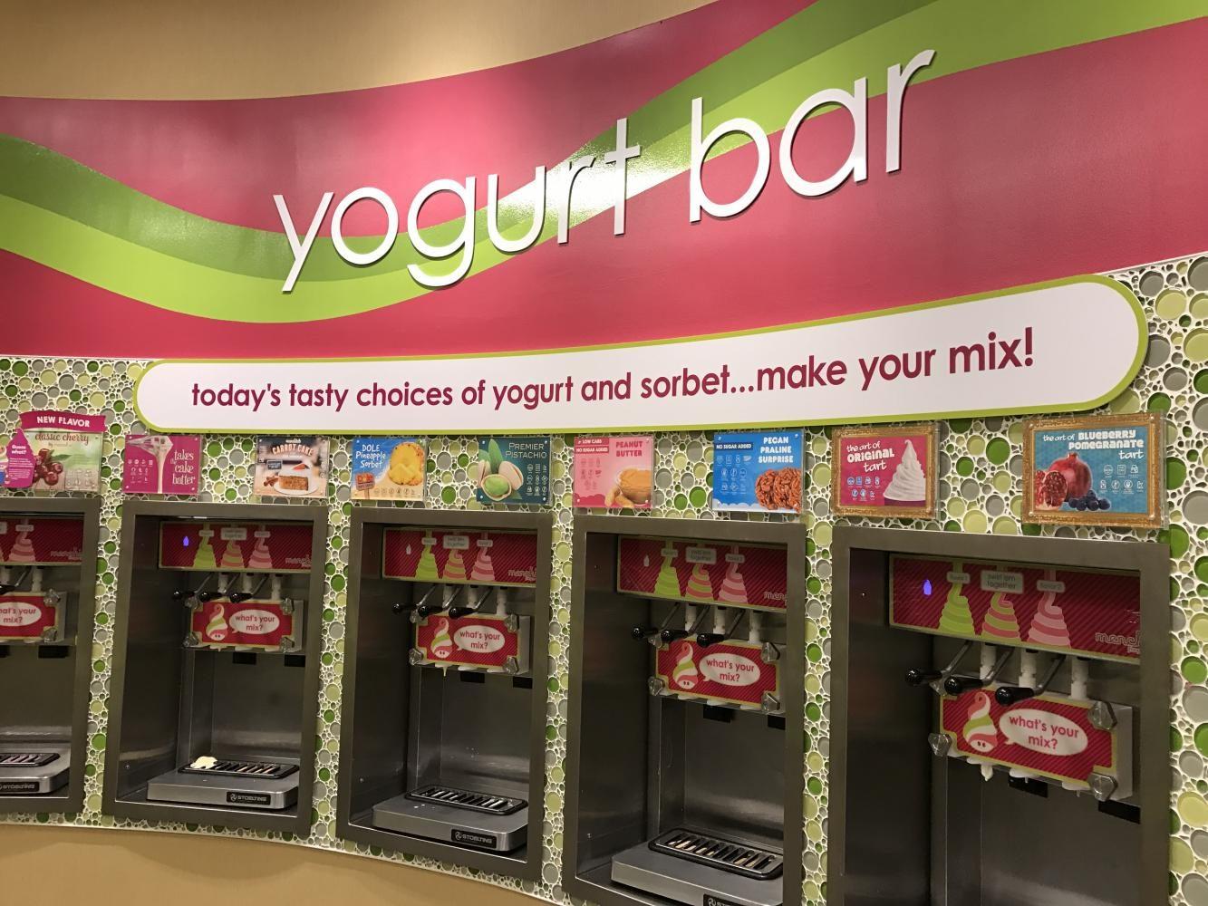 The yogurt bar with more than ten flavors.