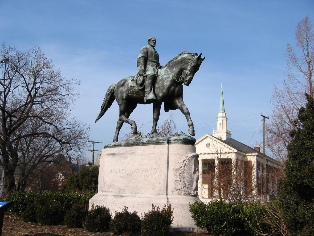 Robert E Lee's statue in Charlottesville, VA