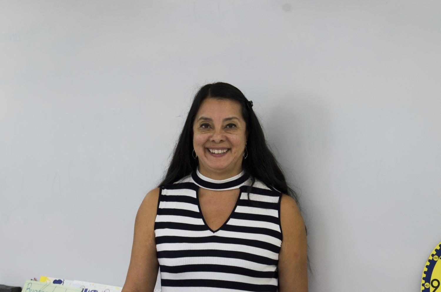 New Spanish teacher Esther Witler comes to Clark with a smile.