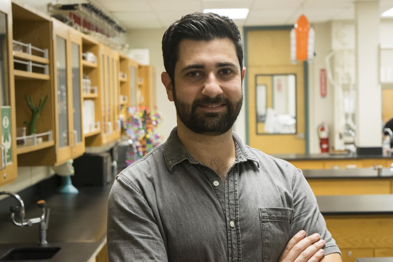 New chemistry teacher Hrant Yahiayan joins Clark.