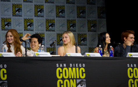 The Riverdale cast during their Comic Con panel.