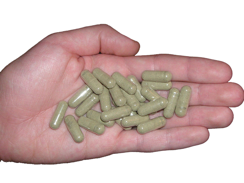 +Kratom+is+commonly+put+into+capsules+for+easy+consumption.