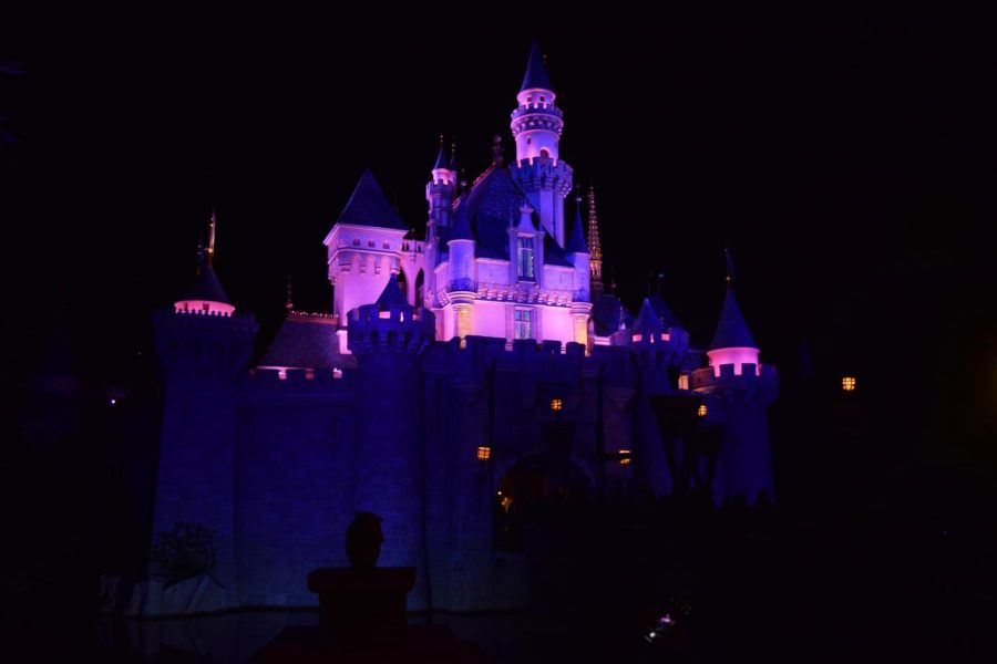 Sleeping+Beauty%27s+castle+lights+up+the+night+during+Clark%27s+first+Disney+trip.