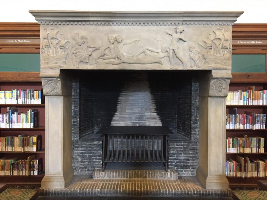 The+Peter+Pan+inspired+fireplace+provides+a+welcoming+and+cozy+entrance+to+the+Children%27s+Wing.