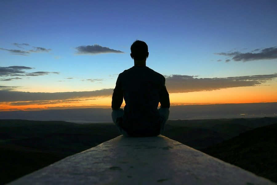 Meditation is mostly done in silence with minimal sounds or noises.
