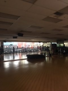 Inside of where the total women gym classes are held.