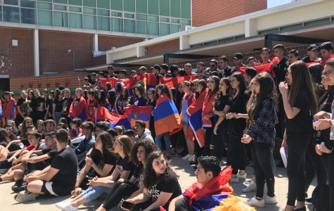 Clark students show cultural pride while protesting for the Armenian Genocide