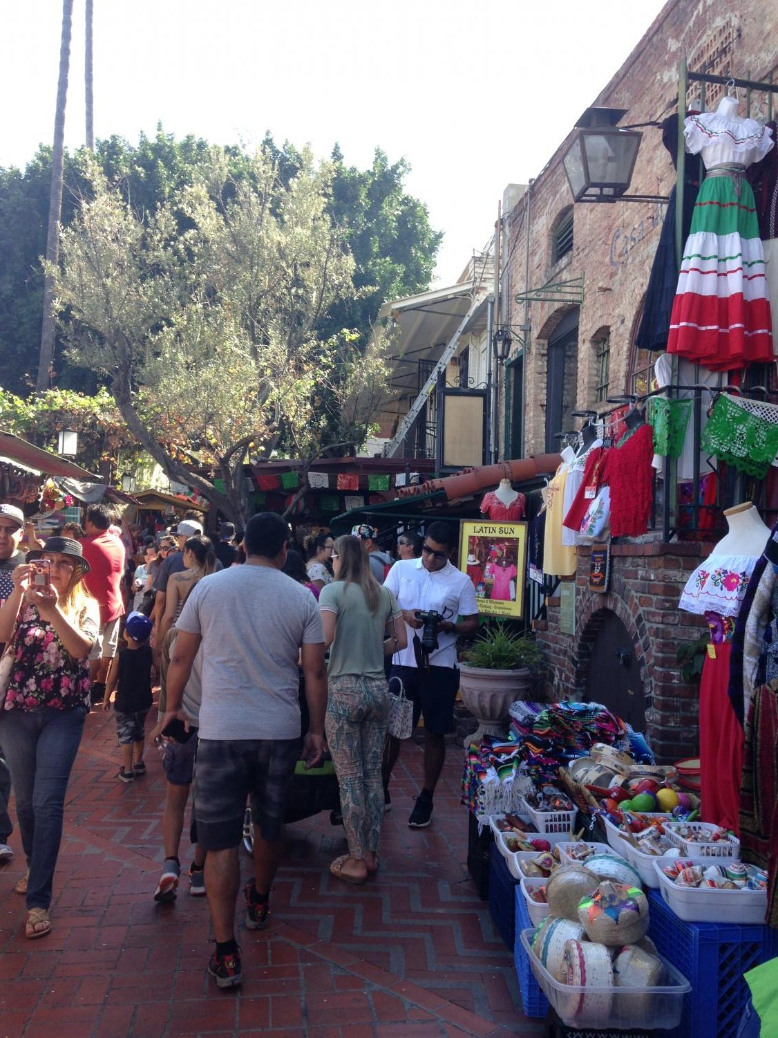 The string of vendors at the heart of Olvera Street.