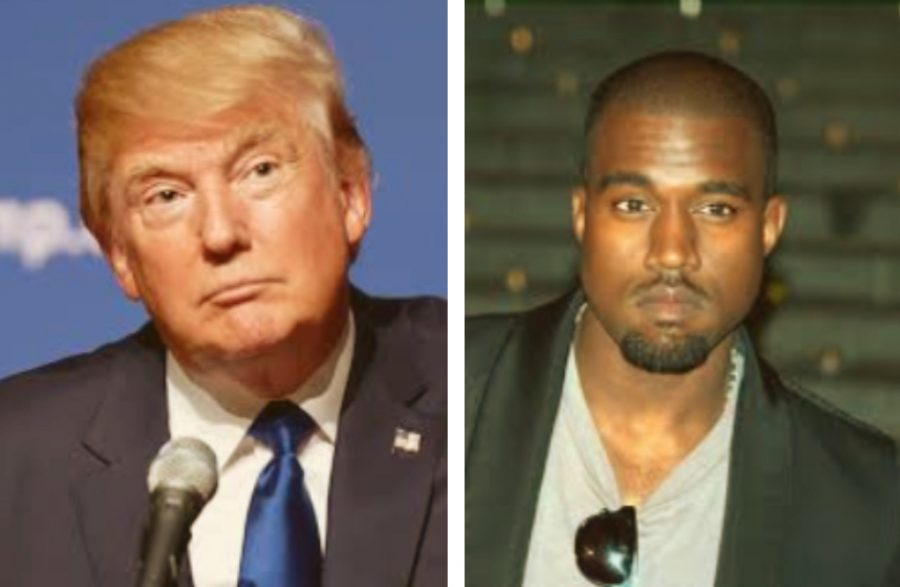 Rapper Kanye West and President Donald Trump