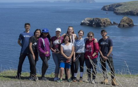Students explore islands outside the classroom