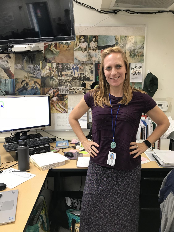 The new health and college preparation teacher,Ms. Scott-Sawyer.