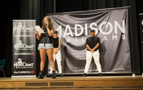 Madison McWilliams performs at Clark Magnet High