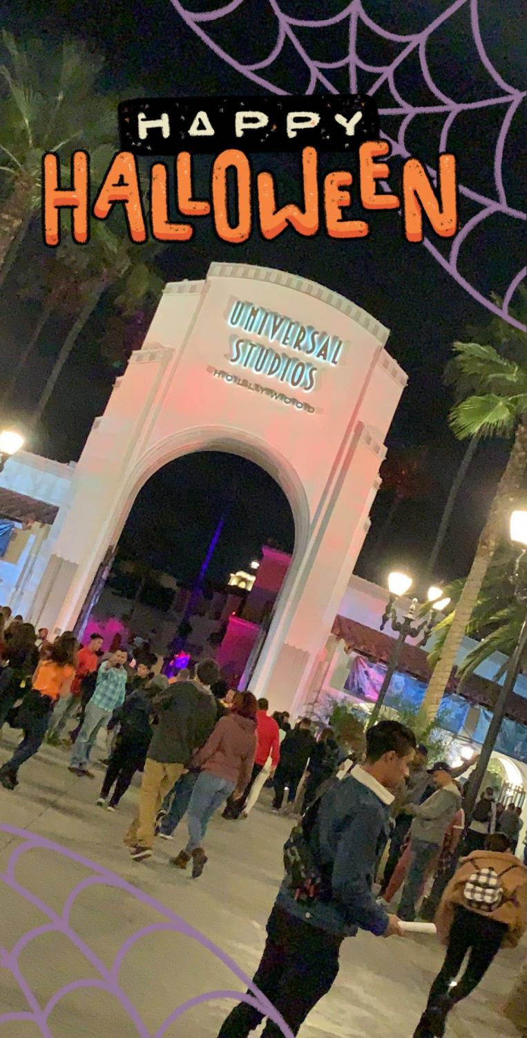 The entrance gates to 2018 Halloween Horror Nights at Universal Studios.