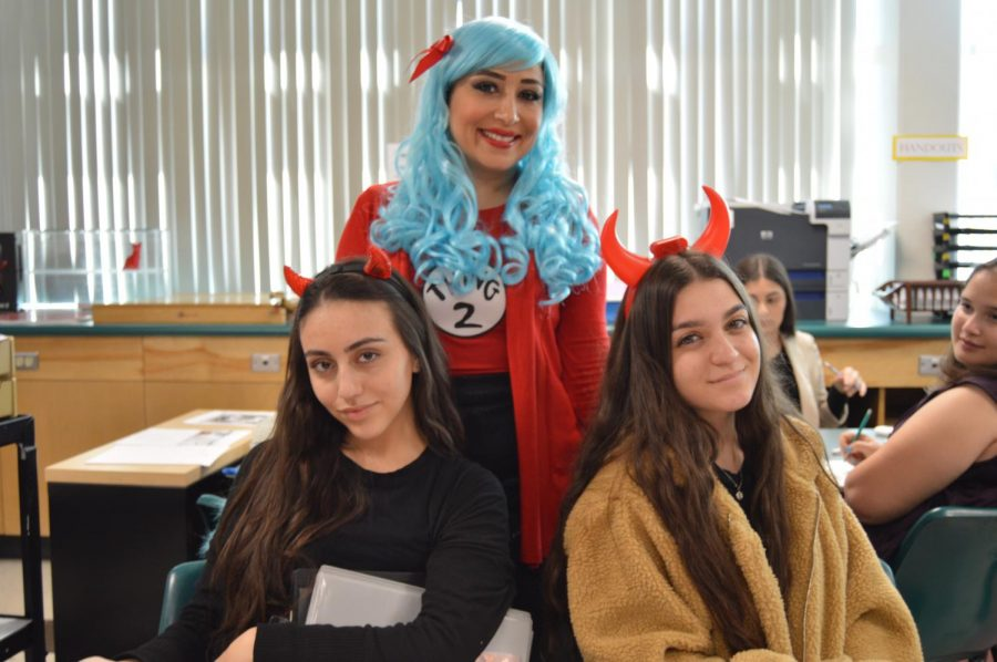High+school+students+at+Clark+enjoy+the+Halloween+tradition+of+dressing+up.