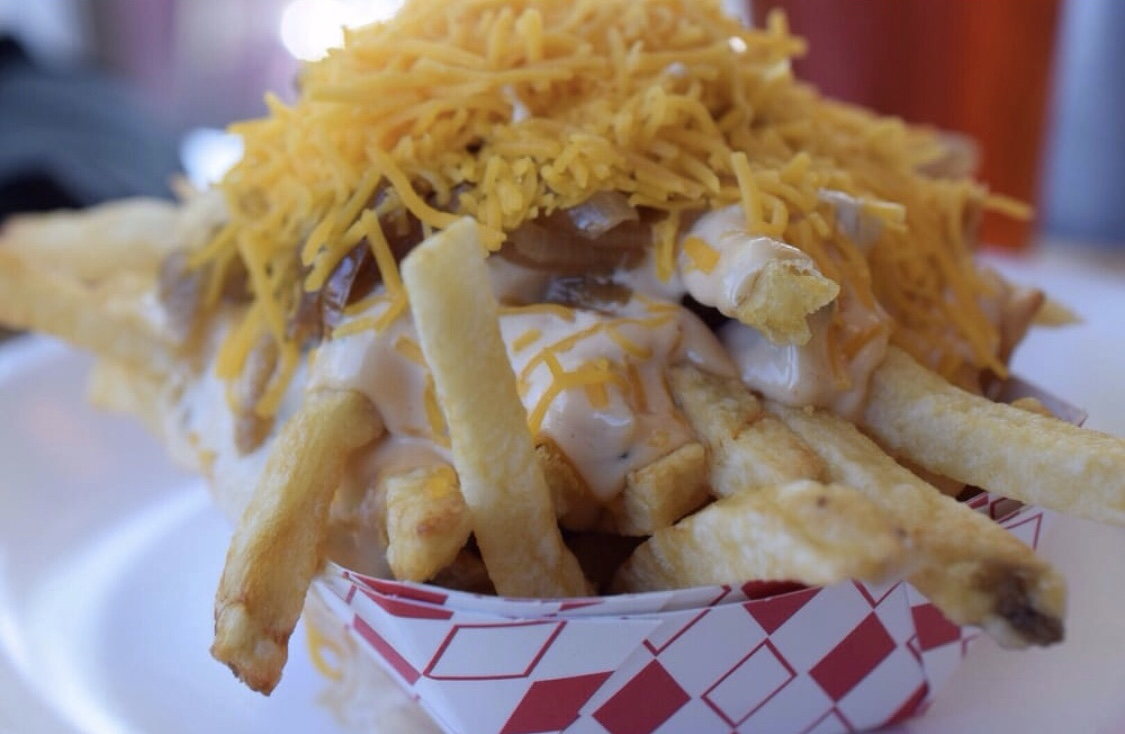 The Oinkster's piggy fries will have you pigging out.