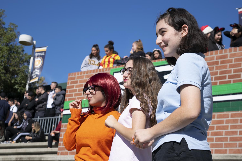 Students enjoy lunchtime Halloween activities at Clark.